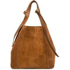 Nina Ricci Faust Tote Bag (13,955 CNY) ❤ liked on Polyvore featuring bags, handbags, tote bags, brown, brown purse, brown tote, nina ricci, nina ricci purse and brown handbags