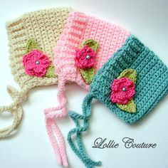 Little Bow Peep..Baby Bonnet Hat by lolliecouture on Etsy, $24.00