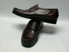 Mens Black Panel Slip On Formal Work Shoe Size UK 11