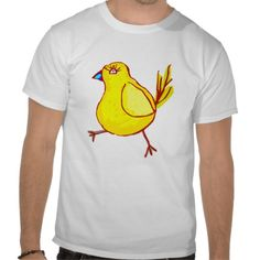 Blue Lipped Chick T-shirt #funny #shirt #chicken #art #zazzle