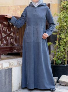 Denim Figueroa Jilbab from SHUKR, great nursing abaya with a sporty flare. I can totally see myself chasing after the girls in this! Islamic Fashion, Muslim Fashion, Modest Fashion, Abaya Fashion, Denim Fashion, Fashion Outfits, Fashion Ideas, Denim Abaya, Modele Hijab