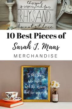 Fans of author Sarah J. Maas' best selling book series A Court of Thorns and Roses will love these pieces of merchandise and bookish gift ideas