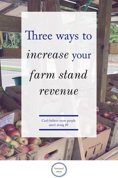Three unique ideas to increase your farm stand, craft stand or farmer's market revenue. More sales. Make more money. Have a productive farm stand without investing much more. Farmers Market Display, Farmers Market Stands, Produce Market, Farmers Market Recipes, Hobby Lobby, Vegetable Stand, Produce Stand, Farm Business, Business Ideas
