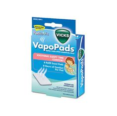 Vicks VapoPads... since it's no longer recommended young children take cold medicine, I love to use these.  It fills the air with soothing vapors to help breathe better.