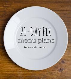 21-Day Fix Clean Eating Menu Plans #21DayFix
