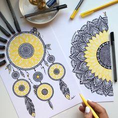 Easy Mandala Drawing, Mandala Sketch, Doodle Art Drawing, Zentangle Drawings, Mandala Book, Mandala Artwork, Mandala Painting, Mandala Art Therapy, Mandala Art Lesson