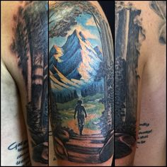 mountain path tattoo -  #boulderinn
