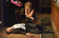 When Den returned to Albert Square alive, everyone was shocked. But he was soon back to his dirty ways and it was affair with Zoe Slater (Michelle Ryan) that ultimately led to his downfall, with both his wife Chrissie (Tracy-Ann Oberman) and lover Zoe helping to kill him and bury him under The Queen Vic pub in 2005.