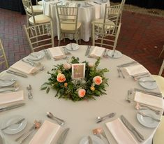 Garland centerpiece by Monday Morning Flowers Princeton NJ - Juliet Garden Roses, eucalyptus and baby's breath