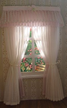 242 Best Miniature Curtains Images Curtains Doll House