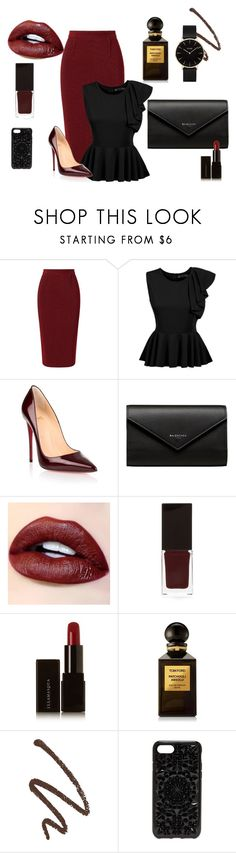 """Business Meeting"" by perezbarrios on Polyvore featuring Roland Mouret, Christian Louboutin, Balenciaga, Serge Lutens, Illamasqua, Tom Ford, Felony Case and CLUSE"
