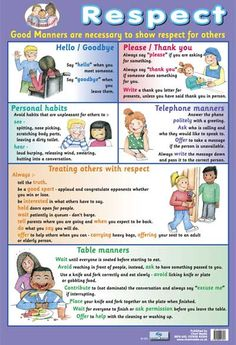Respect & Good Manners Children's Poster