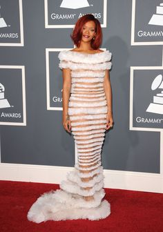 Jean Paul Gaultier at the 2011 Grammys - Style Crush: Rihanna on the Red Carpet - Photos