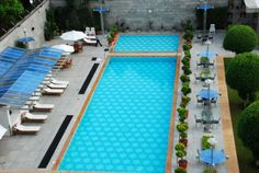 Swimming pool at  #Jaypee Vasant Continental Hotel, Delhi