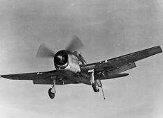 Hellcat Arriving! An F6F-3 Hellcat assigned to Fighting Squadron (VF) 15 pictured on approach for recovery on board the escort carrier Charger (CVE 30) operating in the Chesapeake Bay #OTD in 1943.
