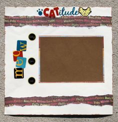 Catitude Premade Scrapbook Pages  cat lovers meow Click this Pin to visit the best site for handmade scrapbook pages.  http://www.etsy.com/shop/SWAKScrappin, $9.99