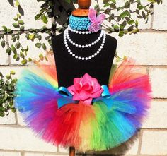 Baby Tutu Skirt - Dance Tutu - 1st Birthday Girl Tutu - Imagine- Rainbow Birthday Tutu - Sewn Infant Toddler Tutu - up to 24 mo - Photo Prop. $26.00, via Etsy.