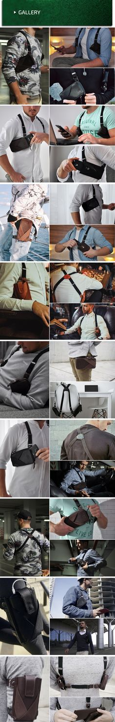 Multifunctional holster for your phone, wallet and other everydaycarry stuff.Your hands are free,your stuff are secure and always near