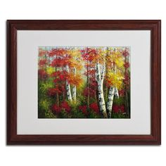 'Indian Summer' by Rio Matted Framed Painting Print