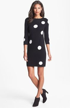 Only Mine Polka Dot Sweater Dress available at #Nordstrom