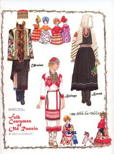 FOLK COSTUMES OF OLD RUSSIA 01