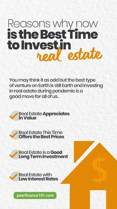Let's take a look at some of the reasons why now is the best time to invest in real estate in the US while we are still a pandemic. #realestate #investing #realty #realtor #invest #investor Property For Rent, Rental Property, Stock Market Basics, Peer To Peer Lending, Loan Consolidation, Things To Think About, Good Things, Property Investor