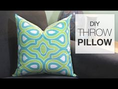 Step-by-step instructions how to sew a basic throw pillow cover to enhance your home's decor. This DIY pillow cover tutorial includes measuring and cutting f...