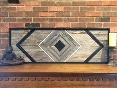 Black Diamond Reclaimed Wood Wall Art With by DustySquareDesigns