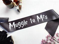 Harry Potter Sash   Harry Potter Wedding  by ShadesOfPinkBtq