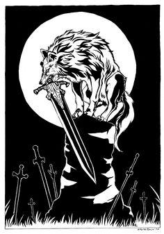 Sif Dark Souls, Dark Souls Artorias, Arte Dark Souls, Seele Tattoo, Soul Saga, Dark Tattoo, Werewolf, Cool Artwork, Game Art