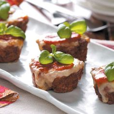 Pizza Meat Loaf Cups Recipe from Taste of Home -- shared by Susan Wollin of Marshall, Wisconsin   #quick_dinner