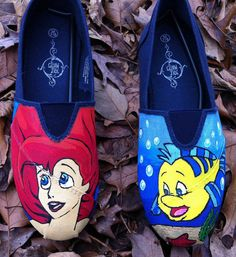 Hand Painted Disney's The Little Mermaid Themed by MrEartdesigns, $75.00
