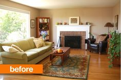 Before & After: Joanne's Warm to Cool Living Room Transformation