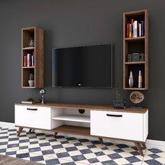 Tv Unit Furniture Design, Tv Unit Interior Design, Home Decor Furniture, Modern Tv Room, Modern Tv Wall Units, Modern Living, Tv Cupboard Design, Tv Regal, Tv Unit Decor