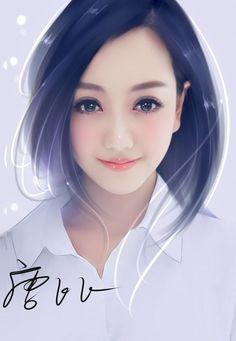 art, girl, and beautiful girl image Pretty Anime Girl, Beautiful Anime Girl, Anime Art Girl, Digital Art Girl, Digital Portrait, Portrait Art, Korean Art, Asian Art, Mother Art