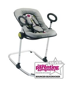 Beaba Up and Down Bouncer - Best Rocker or Bouncer (Silver)