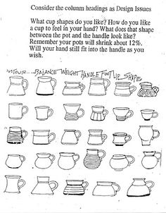 great ref. for making a mug or cup shapes.