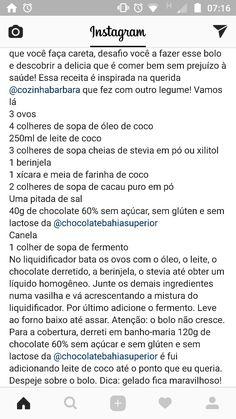 Bolo de chocolate low carb com beringela