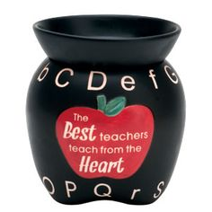 Perfect thank you gift to teacher! Adorable to put in classroom and decorate desk with it!  ABCs Mid-Size Scentsy Warmer PREMIUM  Give an apple to your favorite teacher! ABCs is a wonderful accent for classrooms, school offices, and teachers' homes.