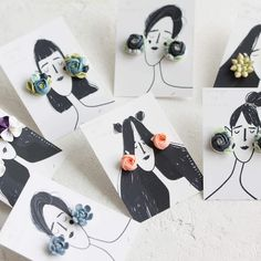 Updates from EtenIren on Etsy Polymer Clay Crafts, Diy Clay, Polymer Clay Earrings, Diy Earrings, Stud Earrings, Diy Gifts, Diy And Crafts, Creations, Handmade Jewelry