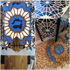 DIY Tutorial - Stenciled Moroccan Inlaid Table with Geometric Moroccan Stencils by Royal Design Studio