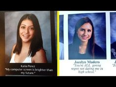 20 Yearbook Quotes That Will Put Yours to Shame Funny Yearbook Quotes, Funny Quotes, Funny Senior Quotes, Humor Quotes, Really Funny, The Funny, High School Quotes, College Humor, Picture Quotes