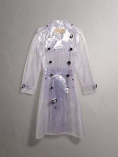 Our classic trench, reworked in transparent plastic. The waterproof design is cut with a relaxed longline silhouette, finished with topstitching that delineates the structure of the piece. Layer over vibrant patterns or tailoring. Burberry Outfit, Plastic Raincoat, Transparent, Long A Line, Trench, Menswear, Sweaters, Shirts, Clothes