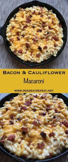 Bacon & Cauliflower Macaroni from www.readeatrepeat.net ...so yummy!