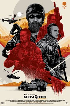 RELEASING TODAY: Ghost Recon Wildlands Posters by Ken Taylor & Benefit prints by Adria LLarch