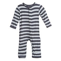 3d279e84ae940e Kickee Pants Coverall in Contrast Stripe Miracle Baby