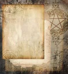 witchy book page