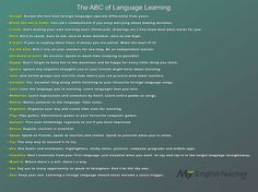 The ABC of language learner Education English, Teaching English, Learn English, Language Acquisition, Learn A New Language, Learning Tools, Spanish Language, Sight Words, Foreign Languages