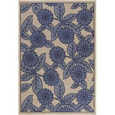 "Indoor/Outdoor Floral Rug 7'9"" x 11'2"" - $100 (Midtown)"