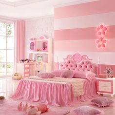 Children's Bed Single Bed European Style Furniture Suite M Girl Princess Bed Girls Pink Bedding, Pink Bedroom For Girls, Cool Kids Bedrooms, Pink Bedrooms, Cute Bedroom Ideas, Shabby Chic Bedrooms, Teen Bedroom Sets, Small Room Bedroom, Girls Bedroom Furniture